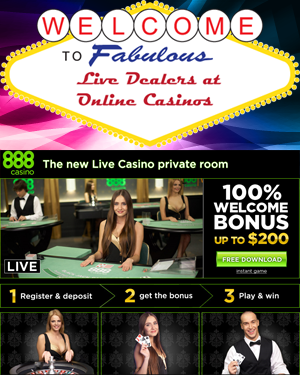 888 Casino - Live Online Casino offering blackjack, roulette, and baccarat
