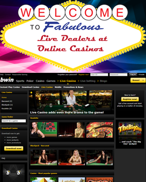 bwin Casino - Live Dealer games