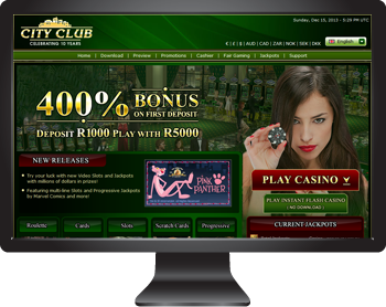 City Club Online Casino - Play in South African Rands