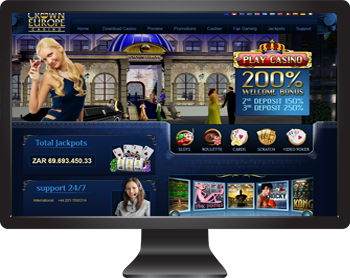 Crown Europe Casino - Your favourite Playtech video slots in South African Rands