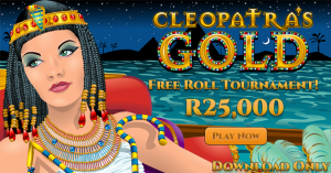 cleopatras gold free roll tournament