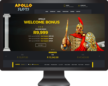 Apollo Slots is available on your desktop or laptop