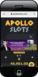 The mobile front for Apollo Slots