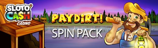 Spin Pacl on Paydirt video slot from Slotocash Casino