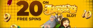 Davincis Gold 20 Free Spins (Leonardo's Loot)