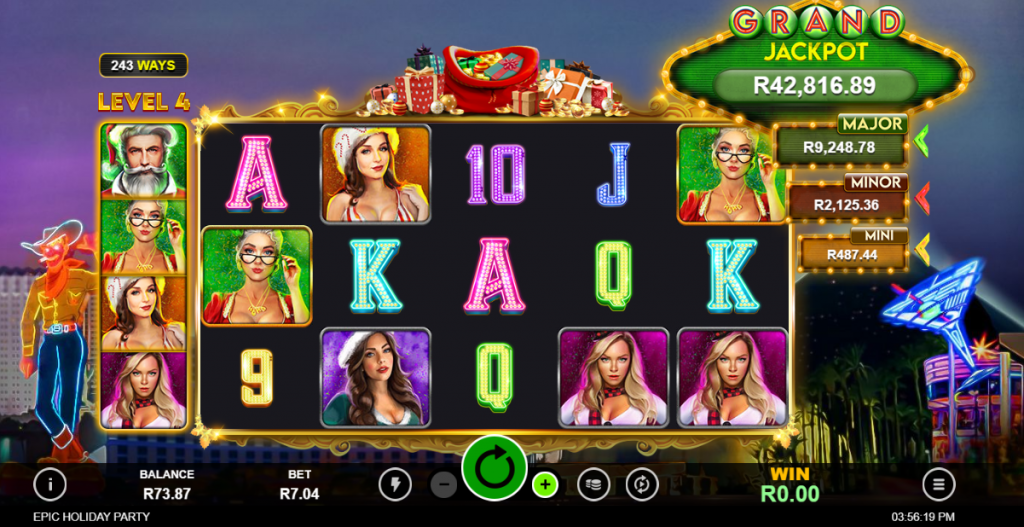 Epic holiday Party video slot game